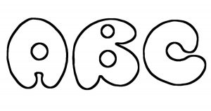 photo regarding Printable Bubble Letters known as Printable Bubble Letters ~ Karens Whimsy