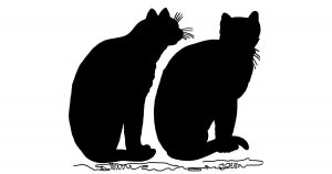 Sitting Cat Silhouettes
