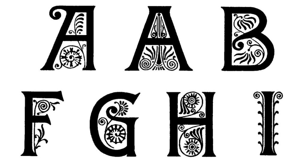 Capital Lettering