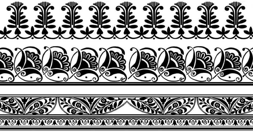 Floral Borders Clip Art