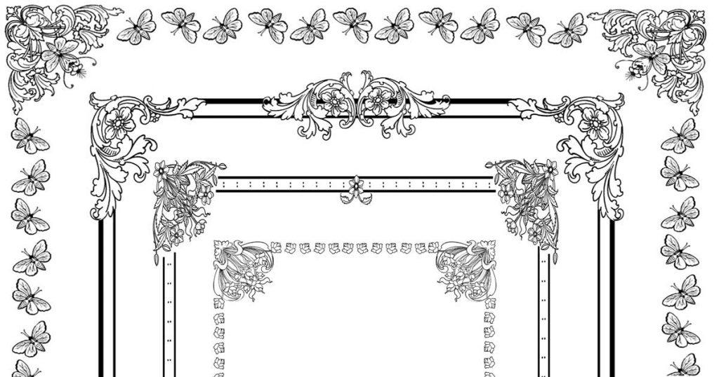 Floral Clip Art Borders