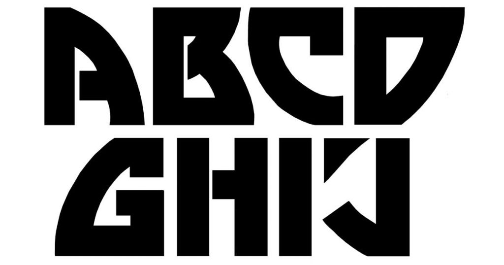 Block Lettering Style