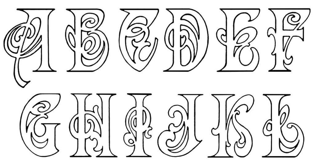 Fancy Alphabet Lettering