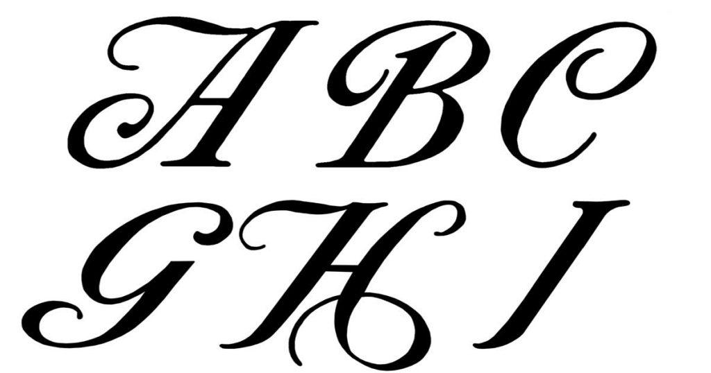 Fancy Cursive Alphabet