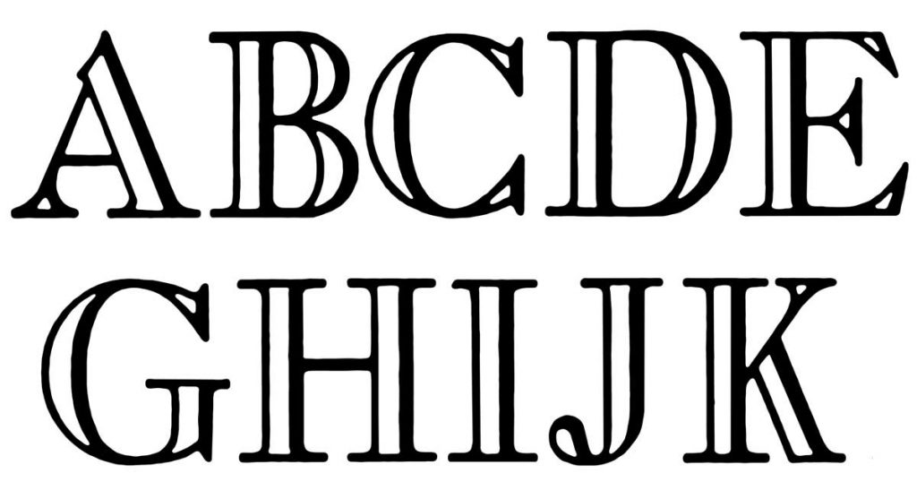 Lettering With Shadows